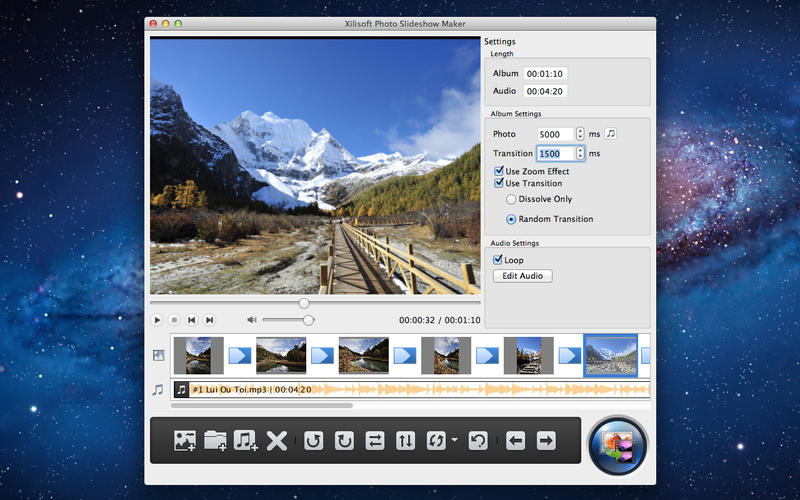 how to run a photo slide show on mac