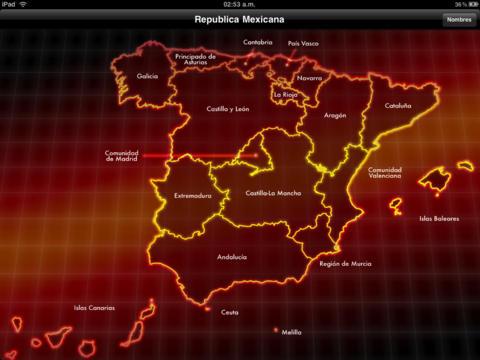 España divisiones y turismo