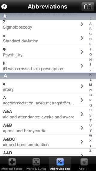 Medical Terms, Terminology, Prefix & Suffix iPhone Screenshot 4