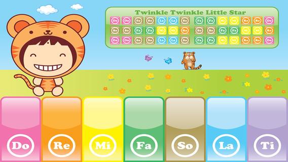 QQ钢琴 - 可爱的动物图案乐谱,孩子们可跟着来弹钢琴音乐 - Free