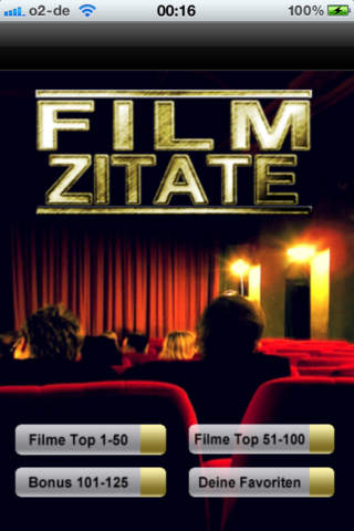 Filmzitate! - Die besten Zitate und Sprüche aus den beliebtesten Filmen aller Zeiten iPhone Screenshot 1