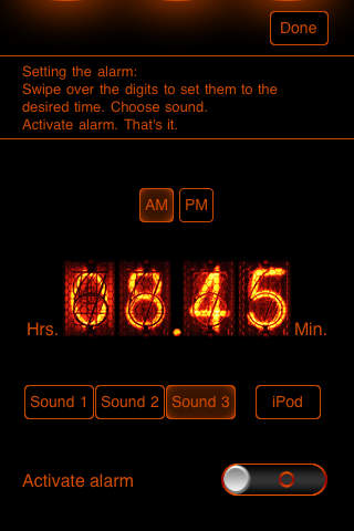 TIOnixie Alarm Clock - Stop Watch - Timer iPhone Screenshot 3
