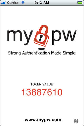 MyPW for iPhone
