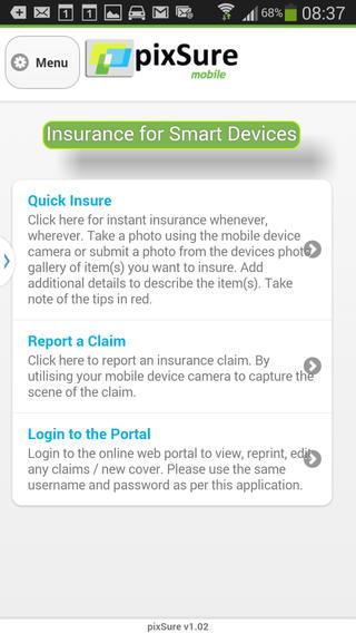 pixSure Mobile Insurance