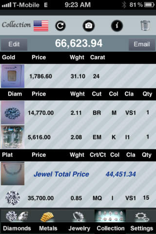 My Jeweler - Diamond and jewelry pricing calculator