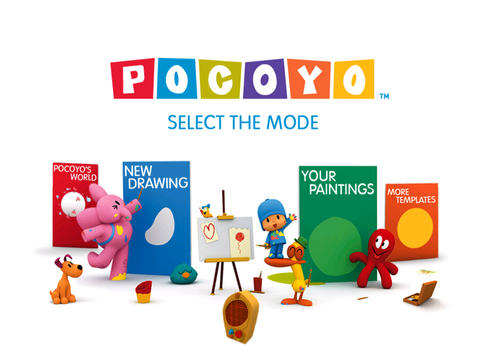 Coloring with Pocoyo and Friends iPad Screenshot 2