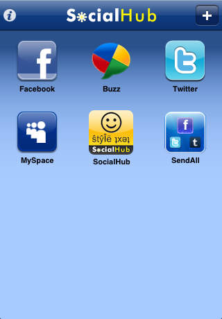 SocialHub for Facebook Twitter Buzz Myspace foursquare SMS Email Meebo: ♛✔☺ and ŜtŷÎëŝ Everywhere