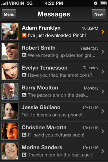 Pinch iMessenger - iPhone Mobile Analytics and App Store Data