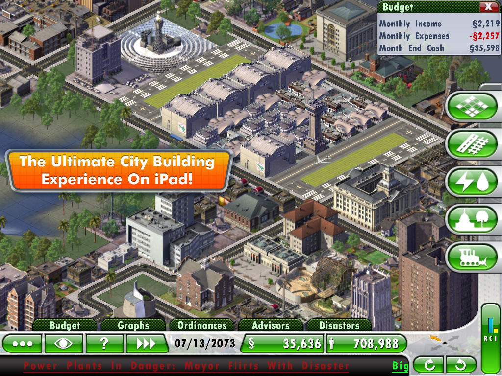SimCity  Deluxe for iPad