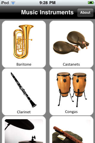 Music Instruments Sounds iPhone Screenshot 1