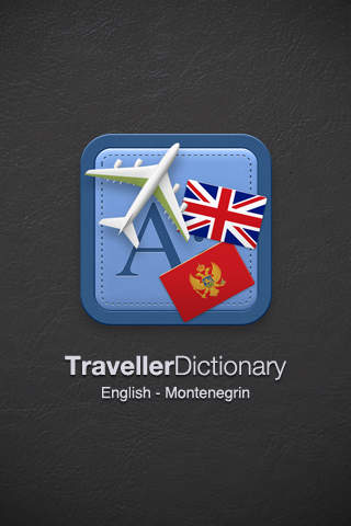Traveller Dictionary and Phrasebook UK English - Montenegrin