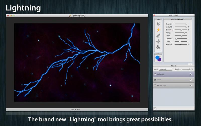 烟雾图像 Fumy for Mac v2.4.2 破解版 - 好用的绘制图片光影烟雾特效工具