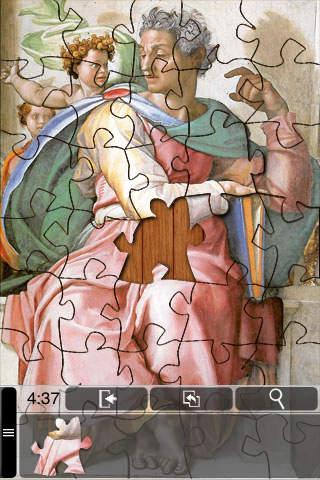 Michelangelo Jigsaw Puzzles iPhone Screenshot 4