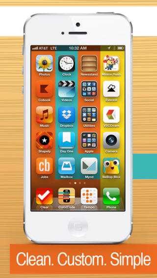 Color code custom wallpaper create and design graphics for Cool way to arrange iphone apps