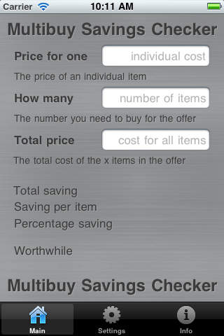 Supermarket Multibuy Savings Checker iPhone Screenshot 2