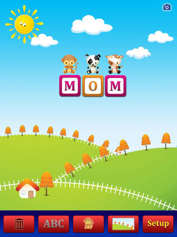 ABC Cute Animals Stickers HD - for iPad screenshot 2