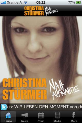 Christina Stürmer / Nahaufnahme iPhone Screenshot 1