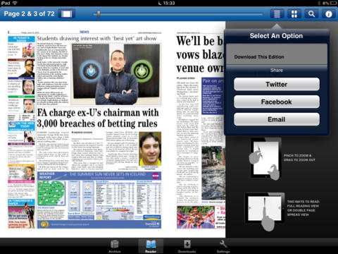 The Cambridge News app iPad Screenshot 2
