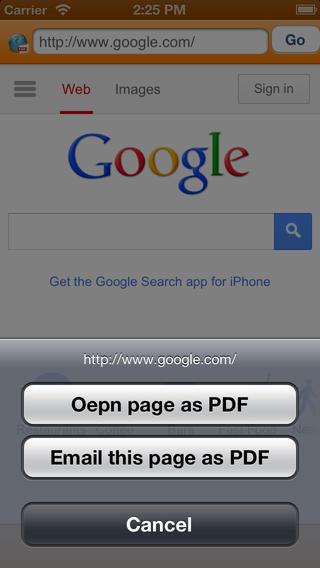WEB to PDF browser