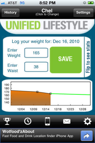 Weight Tracker screenshot 1