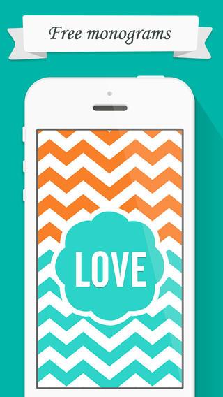 Monogram 图案 - 制作自己喜欢的手机壁纸和主题图案 - 你值得拥有!