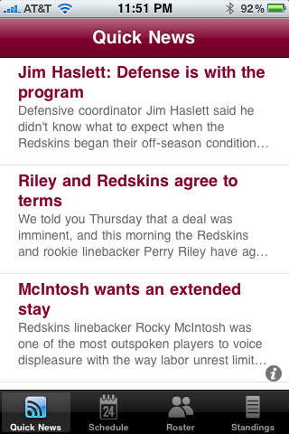 Washington Redskins 2010 News and Rumors