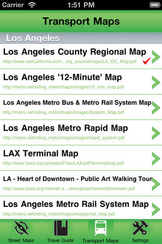 Los Angeles Offline Street Map iPhone Screenshot 3