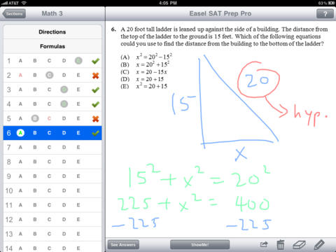 SAT Prep Pro - Over 200 Practice Questions with INSTANT Lessons iPad Screenshot 1