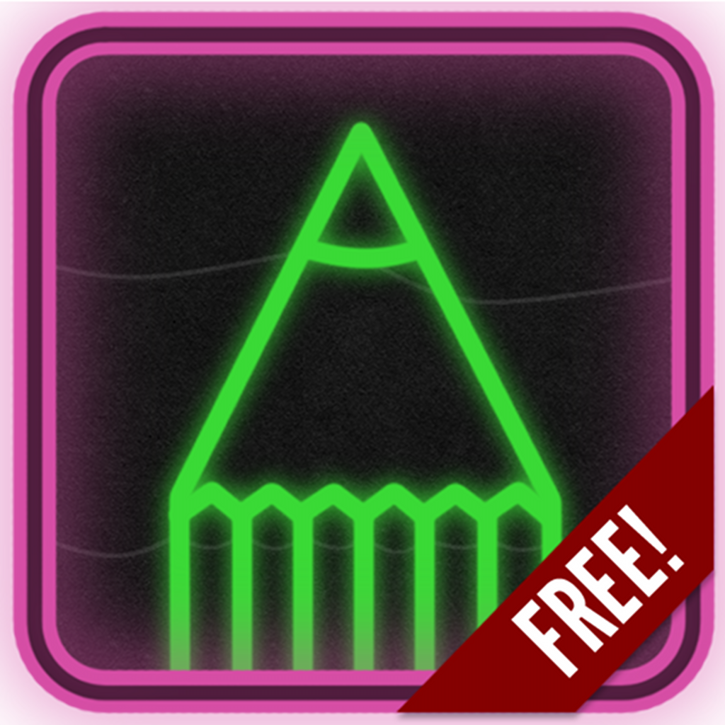 Scribble Drawing App : Neon draw free on the app store itunes