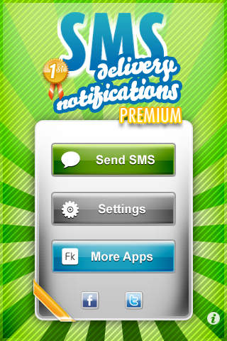 SMS Delivery Notifications Premium Pro iPhone Screenshot 2