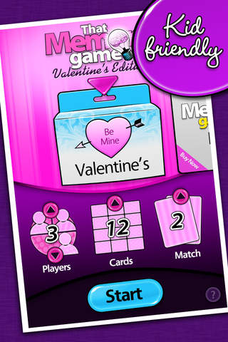 That Memory Game Valentine's Day Edition A Memory Matching Game of Concentration iPhone Screenshot 1