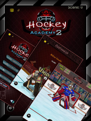 Hockey Academy 2 HD - The new cool free flick sports game - Gold Edition screenshot 1