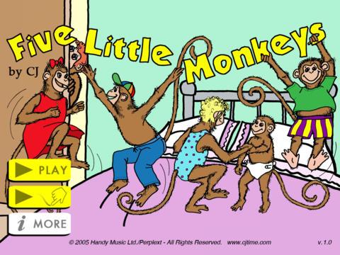 5 Little Monkeys - CJ iPad Screenshot 2