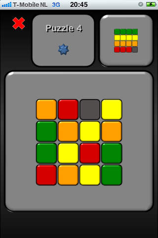 Brain Game 6 Color Slide iPhone Screenshot 3