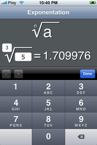 Nth Root iPhone Screenshot 2