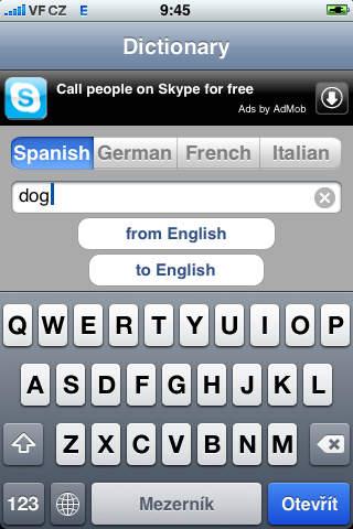 Multi Dictionary Lite screenshot 1