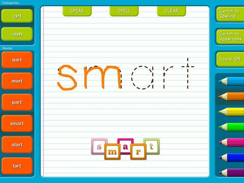 Abby Write Play - Phonics Word Families Games