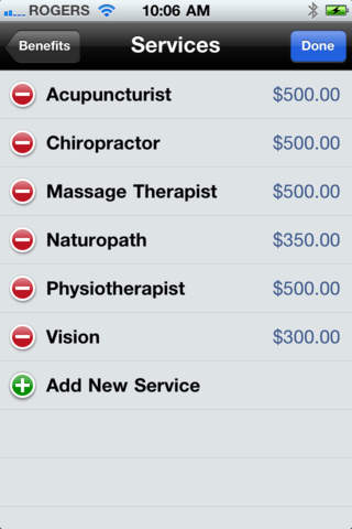 Benefits iPhone Screenshot 4
