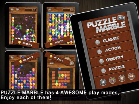 Puzzle Marble HD Free iPad Screenshot 1