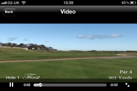 World Golf Movies: Royal Dornoch iPhone Screenshot 1