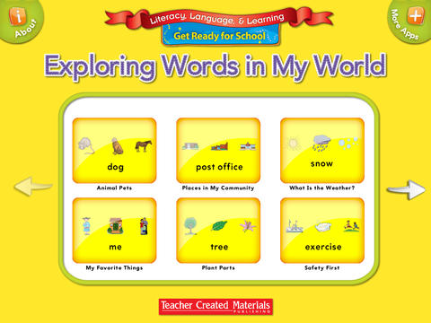 Exploring Words in My World: Get Ready for School