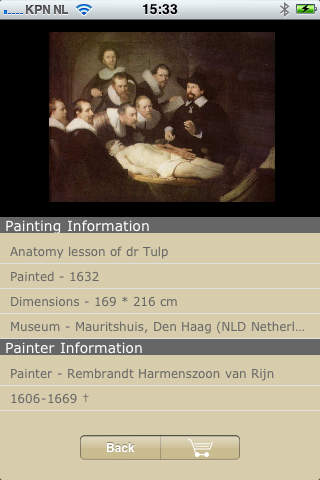 Painters iPhone Screenshot 2
