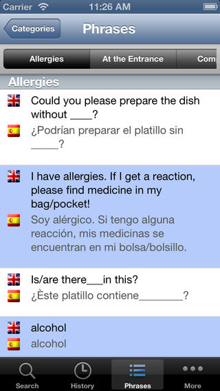 English Spanish Dictionary with Pronunciation iPhone Screenshot 3