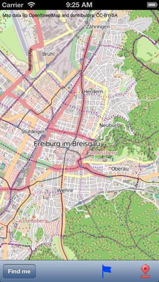 Freiburg im Breisgau Street Map
