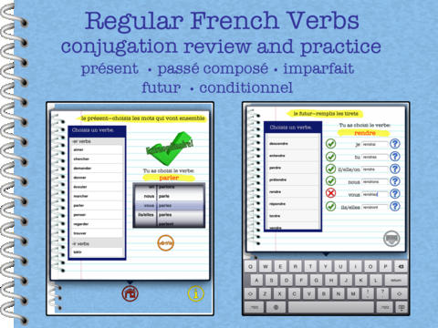 Regular French Verb Conjugation Review and Practice