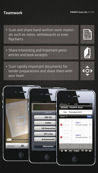 FINARX Scan - Scanning with the PDF Scanner