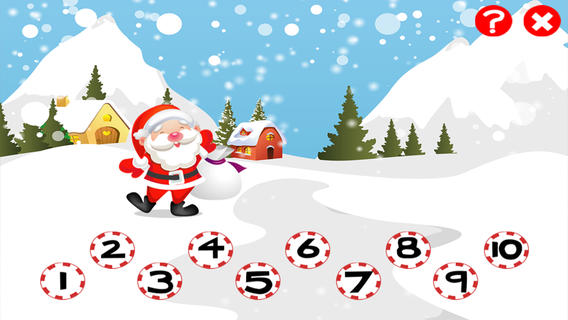 儿童2-5岁游戏圣诞节:学会数数1-10的幼儿园,幼儿园或托儿所