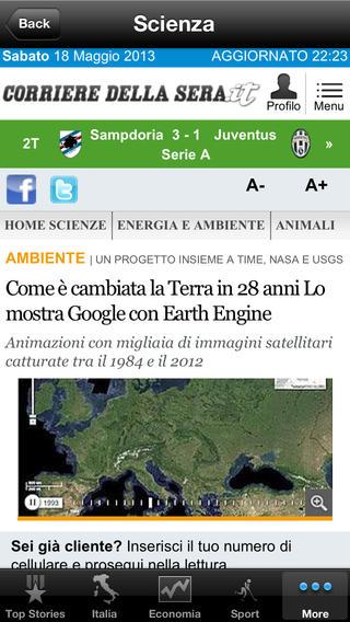 Italy News, Italian Notizie iPhone Screenshot 4