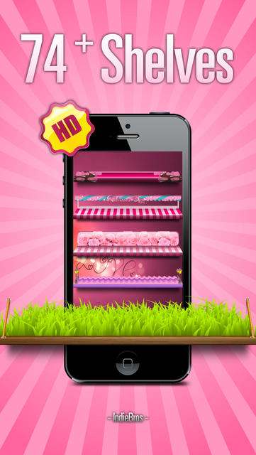 Pink Home Screen Designer - iOS 7 Edition - iPhone Mobile Analytics and App Store Data