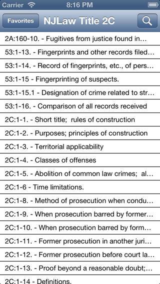 NJLaw - Title 2C - Criminal Law